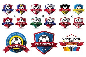 Vector of Soccer tournament Badge