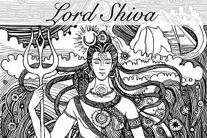 Shiva and Shakti vector illustration