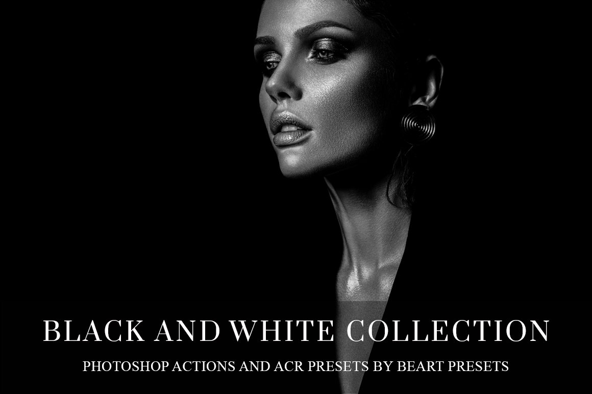 Black and white photoshop actions photoshop add ons creative market