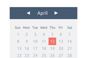 Website Element Calendar Button