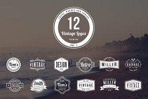 12 Vintage Logos - Vol. 1