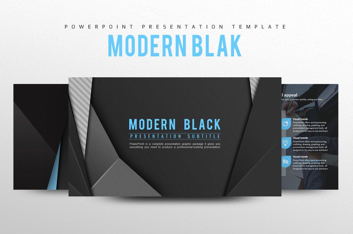 modern black powerpoint template presentation templates creative