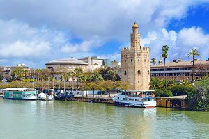 Golden tower Seville (Andalusia)