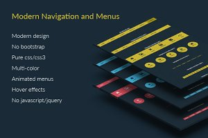 Modern style Navigation and Menus