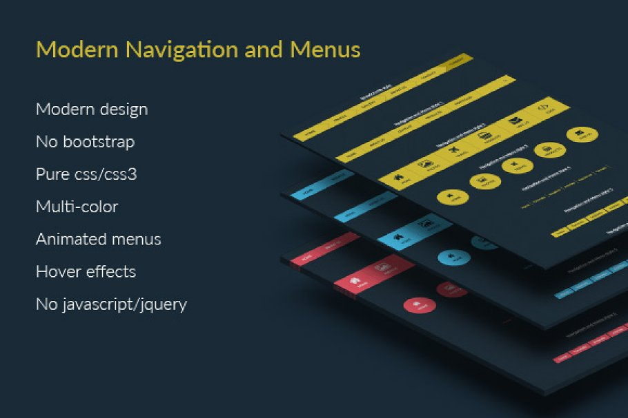 Modern style Navigation and Menus