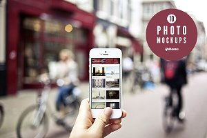 10 urban photo mockups - iPhone 5