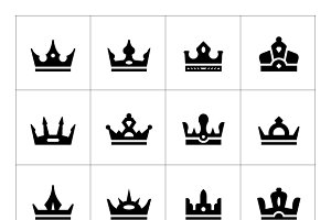 Set icons of crown