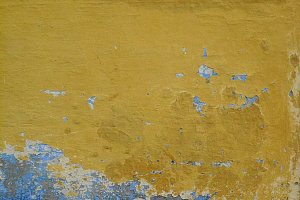 0033 Wall texture yellow/gray/blue