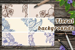 Decorative floral backgrounds