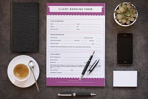 Client Contract / Booking Form-V295