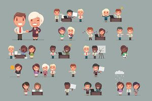 Business people big set 3