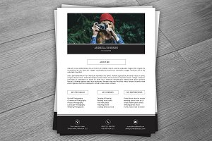 Photographer About me Page-V298