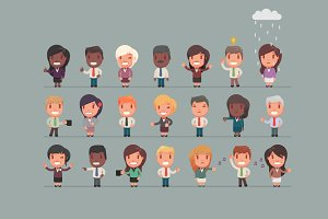 Character set: Office people