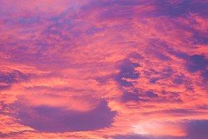 Red sky at sundown