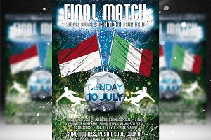 Football Final Match Flyer Template