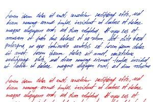 Handwritten letter texture