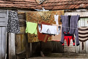 Laundry hanging outdoors