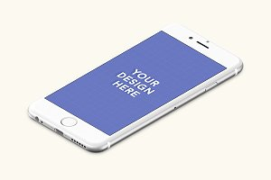 iPhone 6s Silver Left mockup