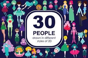 30 people - 2D of Adobe Illustrator