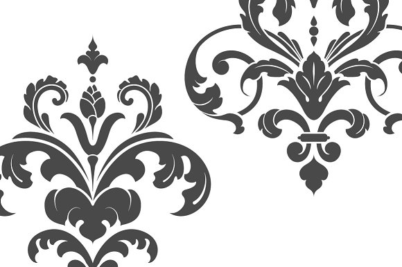 Vintage Damask Ornaments II in Illustrations - product preview 1