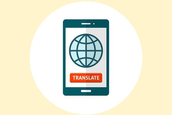 Globe on smartphone screen