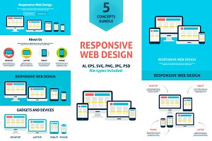 Responsive Web Design Vector Concept