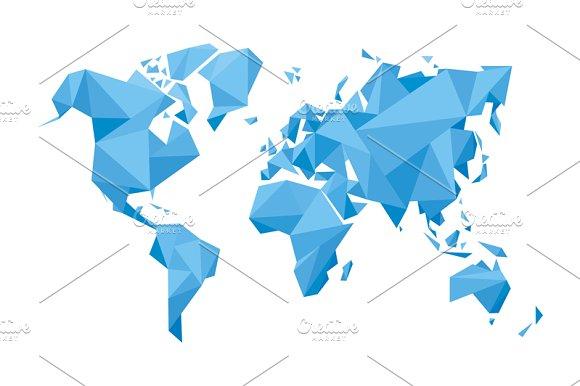 Abstract Vector World Map Illustrations Creative Market