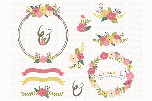 Vintage Floral Wreath Collections
