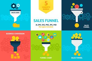 Sales Funnel Vector Concepts