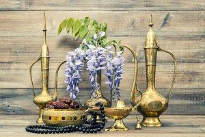Vintage arabic pots islamic rosary