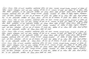Calligraphic handwritten script