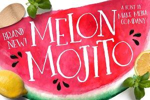Melon Mojito Font + Vectors