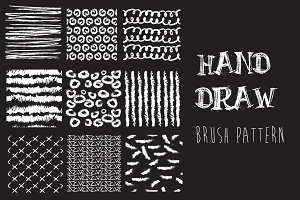 Brush strokes pattern set