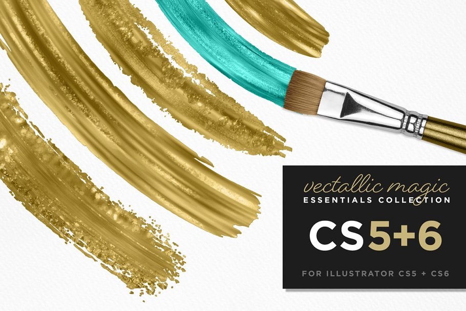 Vectallic Magic CS5+6 Vector Brushes ~ Illustrator Add-Ons
