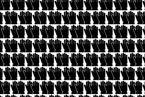 Seamless pattern background of glove
