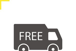 Free delivery icon. Vector
