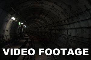 Going through the underground tunnel