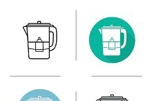 Water filter icons. Vector