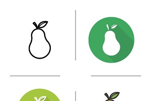 Pear icons. Vector