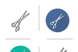 Scissors icons. Vector