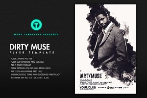 DIRTY MUSE Flyer Template
