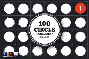Circle Logo & Badge Element Vol. 1