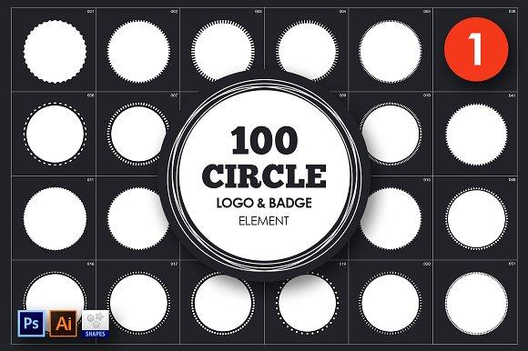 Circle Logo & Badge Element Vol. 1 - Objects