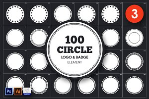 Circle Logo & Badge Element Vol. 3