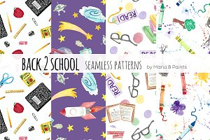 Watercolor Seamless Patterns - Learn