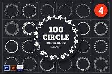 Circle Logo & Badge Element Vol. 4