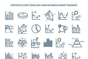 Statistics chart icons