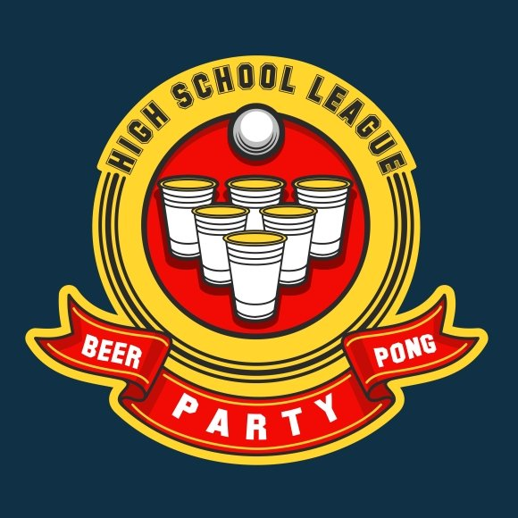 Beer pong party logo
