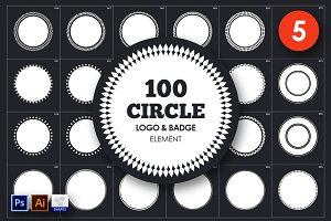 Circle Logo & Badge Element Vol. 5