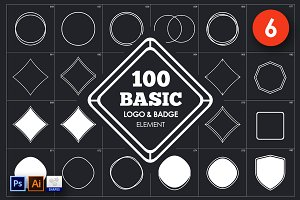 Basic Logo & Badge Element Vol. 6